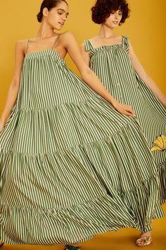 Get inspired and discover Adriana Degreas trunkshow! Shop the latest Adriana Degreas collection at Moda Operandi. Adriana Degreas, Vacation Wardrobe, Frou Frou, Striped Maxi Dresses, Spaghetti Strap Dresses, Fashion Forward, String Bikinis, Strapless Dress, Womens Fashion