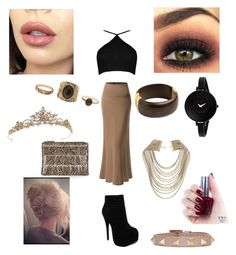"""Night bufday party"" by torilindseyrosella on Polyvore featuring Boohoo, Luichiny, Topshop, OPI, Wallis, Movado, Valentino and Charlotte Russe"