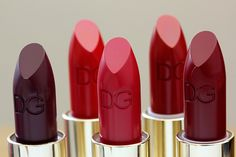 Some of the new Dolce & Gabbana Matte Lipsticks ($37 each).