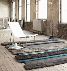 carpet via @Carly Peterson Sign ©  the rug adds more to the room.