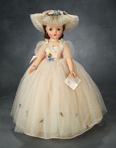 "Mid-Century American Dolls: 199 Brunette Cissy ""Models Her Formal Gown"" by Alexander, Original Box Antique Dolls, Vintage Dolls, Victorian Dolls, Green Gown, Madame Alexander Dolls, Doll Shop, Formal Gowns, Doll Patterns, Barbie Dolls"