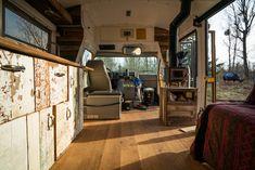 How to Easily Install a Wood Stove in a Camper Van - Outbound Living Design Your Own Vans, Camper Stove, Dodge Ram Van, Stove Fan, Short Bus, Camper Interior, Camper Van, Wood Paneling, Van Life