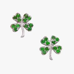 #FASHION pick of the day: Jennifer Meyer emerald clover studs. It's never late for St. Patrick's Day!  #Style #WomensFashion #StPatricksDay #Earrings #InStyle #OOTD #outfitoftheday #accessories #Trend #Trendy #FashionTrend