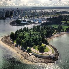 A great shot from Helijet of Brockton Point in Stanley Park by Rebecca Bollwitt (@Miss604)
