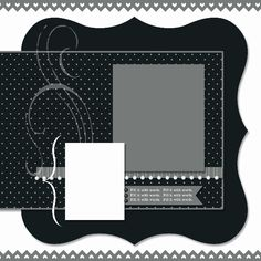 A Little Scrapbook Therapy - scrapbook page layout sketch