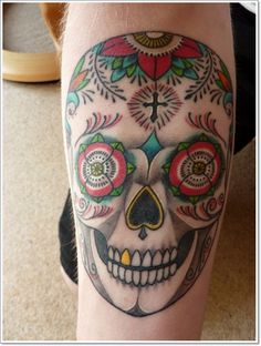 150 Greatest Day of the Dead Tattoos awesome  Check more at http://fabulousdesign.net/day-of-the-dead-tattoos/