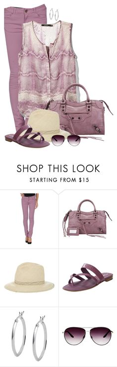 """""""Monochrome Plum"""" by cathy0402 ❤ liked on Polyvore featuring Twin-Set, Ark & Co., Albertus Swanepoel, Manolo Blahnik, Jewel Exclusive and Barton Perreira"""