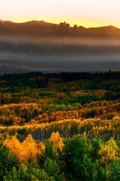 Layers of light, Ohio Pass, Colorado; photo by Matt Payne