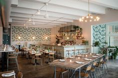 Stateside restaurant in Seattle.  French inspired Vietnamese food - colonial meets tropical design  photo by: Barnard & Meyer