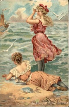 Young Women in Bathing Costumes Swimsuits & Pinup