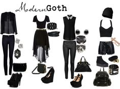 """Modern Goth"" by pastelunicorn ❤ liked on Polyvore"