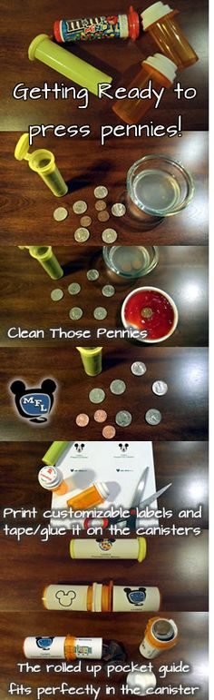 Walt Disney World Pressed Coin Checklist Pocket Guides and ideas for a coin holder • TheMouseForLess
