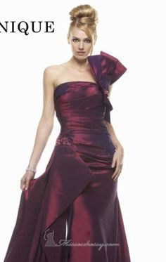 Strapless evening gown by Janique K9000