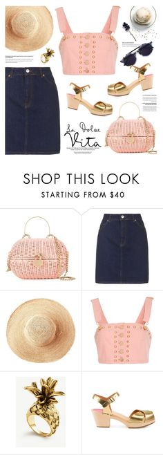 """""""overall cropped top"""" by jesuisunlapin ❤ liked on Polyvore featuring Chanel, Topshop, Toast, Alice McCall, Ann Taylor, Disney, Swedish Hasbeens and Thierry Lasry"""