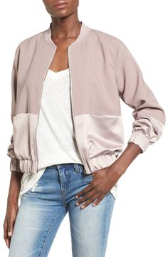 Free shipping and returns on Missguided Satin & Faux Suede Bomber Jacket at Nordstrom.com. This season's hottest jacket silhouette is finished with soft lilac faux suede and satin for a textural color-blocked look that adds a bit of luxe polish to the utilitarian-inspired style.