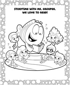 bubble guppies back to school coloring page