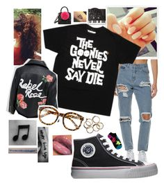 """Goonies never say die"" by lovesyddiebear ❤ liked on Polyvore featuring Afends, PF Flyers, Disney, Les Petits Joueurs, Kate Spade, Reclaimed Vintage and FE NY"