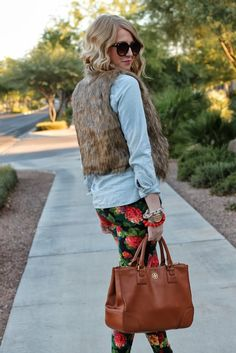 fall floral and fur