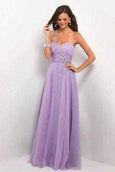 Violet long evening dress ...