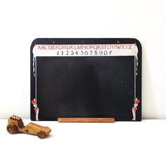 Vintage Children's Chalkboard by luckylittledot on Etsy, $69.00