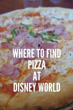 Going to Disney World and want to eat pizza? Whether you want a quick snack or a meal, check out these places for where to find pizza at Disney World. Disney World Packing, Disney World Rides, Disney World Hotels, Disney World Food, Disney World Restaurants, Disney World Magic Kingdom, Disney World Florida, Eat Pizza