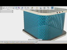How to make mesh / grills - fusion 360 tutorial - YouTube