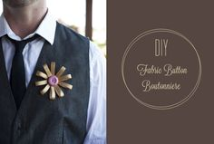DIY: Fabric Button Boutonniere