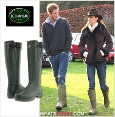 Duchess-of-Cambridge-Kate-Middleton-with-Prince-Harry-in-Le-Chameau-Vierzon-Lady'-Wellie-boots