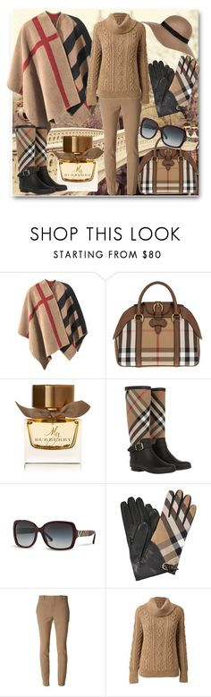 """""""Poncho Burberry"""" by atenaide86 ❤ liked on Polyvore featuring Burberry, Gucci, CO and River Island"""