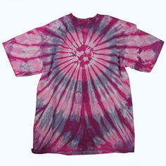 Our lollipop burst tie dye is a hippie classic, sporting an sweet swirling burst in unexpected colors on 100% cotton!  $18.00
