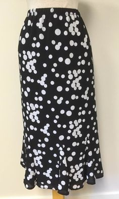 polka dots to mid calf with a bit of flounce (size 14)