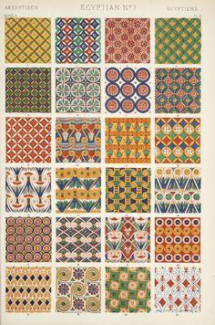Jones, Owen, 1809-1874. / The grammar of ornament  (1910)  Egyptian ornament