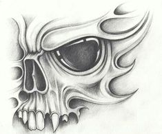 Skull tattoo drawings in pencil - artist-Totenkopf Tattoo Zeichnungen in Bleistift – Künstler Skull tattoo drawings in pencil - Evil Skull Tattoo, Skull Sleeve Tattoos, Tattoo Design Drawings, Skull Tattoo Design, Cool Skull Drawings, Tattoo Designs, Skull Stencil, Tattoo Stencils, Pencil Tattoo
