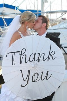 'thank You' Parasol, 28% off | Recycled Bride