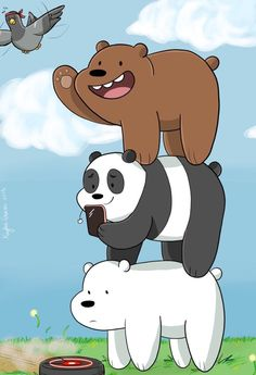"We Bare Bears - Grizzly ""Grizz"", Panda, Ice Bear Bear Wallpaper, Cartoon Wallpaper, We Bare Bears Wallpapers, Cute Wallpapers, Really Cool Photos, Cute Disney Drawings, We Bear, Cute Disney Wallpaper, Bear Cartoon"