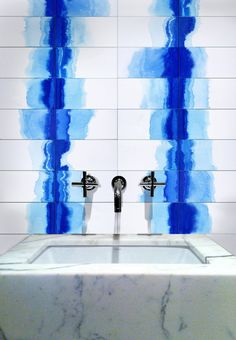 An obsession with Delft and ombre images led tile maker Deborah Osburn of Clé tile company in Sausalito, California, to discover dip dying.