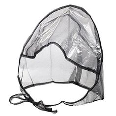 La Mart Rain Bonnet With Full Cut Visor   Netting - Black. Heavy duty clear  plastic with netting. Overall protection for your hairstyle. 7ce9656c75c9