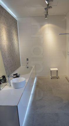 Beton Style mit Vintage-Look vereint in der Serie Newton von Villeroy & Boch… Villeroy, Bathtub, Led, Mirror, Cool Stuff, Bathroom, Furniture, Diys, Kitchens