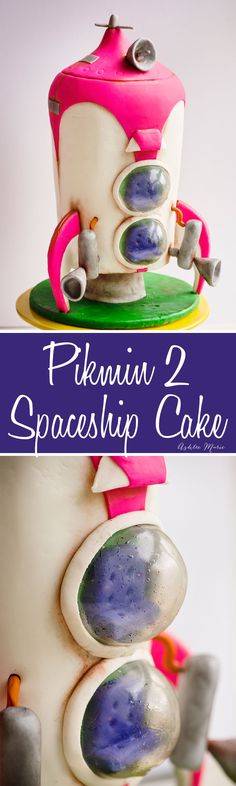 DIY How-to make this pikmin 2 spaceship cake like I created for my son's birthday party.