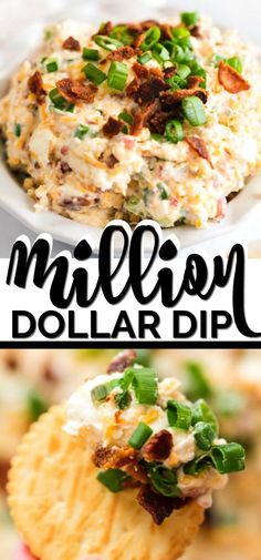 We're obsessed with this easy, delicious MILLION DOLLAR DIP. Loaded with mayo, cheese, bacon and green onions there is a lot to love! Ready in only minutes with just one jar of Best Foods or Hellmann's Mayonnaise from Walmart. A few simple ingredients is Cold Dip Recipes, Best Dip Recipes, Party Dip Recipes, Favorite Recipes, Delicious Recipes, Tasty, Appetizer Dips, Appetizers For Party, Appetizer Recipes