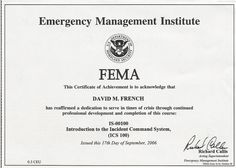 11 Best FEMA Certificates images in 2013 | Course completion