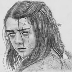 Game of Thrones - Pencil Portrait Blind Arya Stark