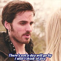 OUAT ~ Such a huge sign of character development from Emma. Instead of pushing away Hook's charming comments, she is embracing them. She is letting him love her.