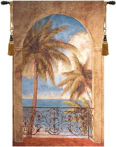 Palm Archway Wall Hanging Tapestry