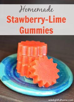 Strawberry-Lime Gummies Recipe on Yummly. @yummly #recipe