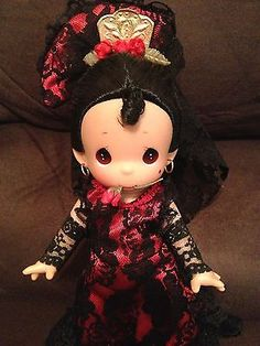 "Precious Moments Dolls of The World ""Nina"" Spain 9"" Doll w Stand Sold Out RARE 