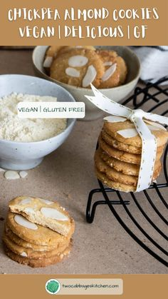 Have you ever tried biscuits made with legumes flour? I can assure they are very quick to prepare, you wiill only need 5 ingredients and are also gluten-free. #vegan #glutenfree #glutenfreecookies #vegancookies #veganbiscuits #vegankitchen #veganeasy #veganrecipes #easy #bestdamn #healthy #cookies #gf #quick