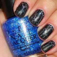 OPI Black Shatter and Last Friday Night polish from Katy Perry Collection *** Want additional info? Click on the image.