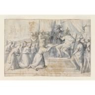 Turkish Ambassador Presenting Gift to Don Giovanni of Austria, Belisario Corenzio, 1630
