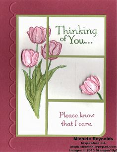 Handmade thinking of you card using Stampin' Up! Thoughts & Prayers and Blessed Easter Sets. Sympathy Card Sayings, Birthday Cards For Women, Card Making Techniques, Cards For Friends, Scrapbook Cards, Scrapbooking, Flower Cards, Creative Cards, Greeting Cards Handmade